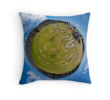 Fortified Ball - Inside Dun Aengus stone fort Throw Pillow