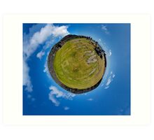 Fortified Ball - Inside Dun Aengus stone fort Art Print
