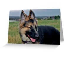 Giggly Gibson Greeting Card