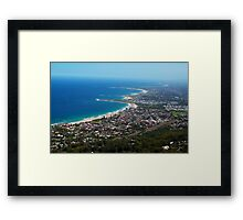 Northern Illawarra Beaches Framed Print