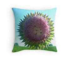 A Prickly Kentucky Flower Throw Pillow