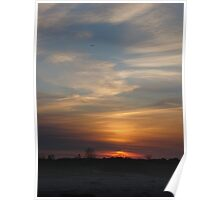 Sunset at Sandy Hook, New Jersey Nature Poster