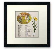 Language of Flowers Kate Greenaway 1884 0025 Descriptions of Specific Flower Significations Framed Print