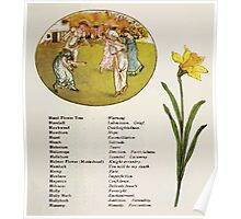 Language of Flowers Kate Greenaway 1884 0025 Descriptions of Specific Flower Significations Poster