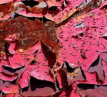 Fushcia Flakes by Linda Bianic