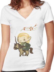 Legolas Women's Fitted V-Neck T-Shirt