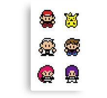 Pokemon - pixel art Canvas Print