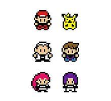 Pokemon - pixel art Photographic Print