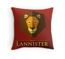 House Lannister Throw Pillow