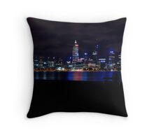 Perth Skyline Throw Pillow