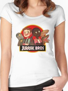 Jurassic Bros Women's Fitted Scoop T-Shirt