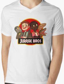 Jurassic Bros Mens V-Neck T-Shirt
