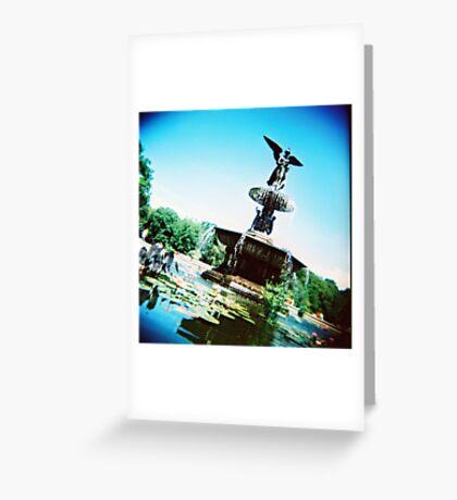 Bethesda Angel, Central Park Greeting Card