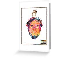 J.Cole - Born Sinner (Tye Dye) Greeting Card