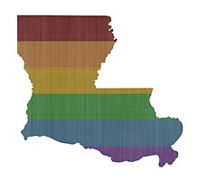 Louisiana Rainbow Gay Pride by surgedesigns
