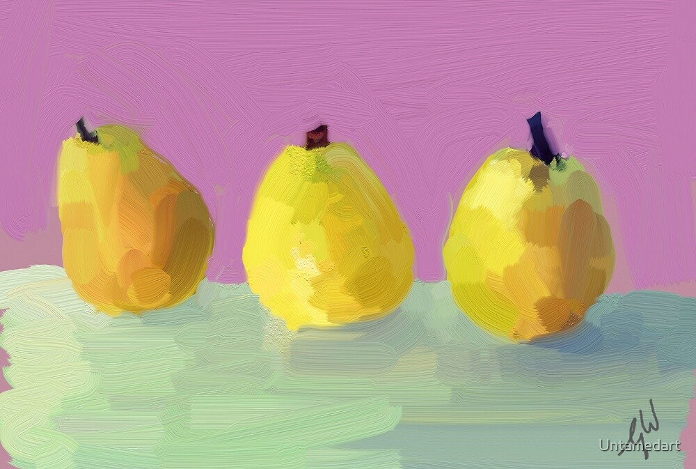 Painted  Pears by Untamedart