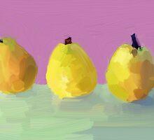 Painted  Pears by Untamedart