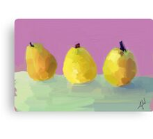 Painted  Pears Canvas Print