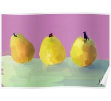 Painted  Pears Poster
