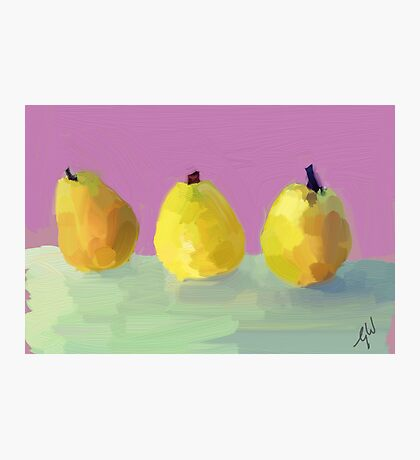 Painted  Pears Photographic Print