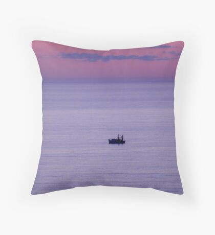 Dawn Fishing Boat Throw Pillow
