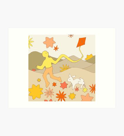 Apricot Kite - from my original series, Apricot World Art Print