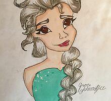 Disney's Frozen Elsa Drawing by SquishyArt