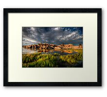 The Cloudy and the Calm Framed Print