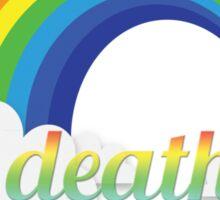 Death metal funny rainbow text tshirt Sticker