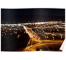 Medford Oregon at Night Poster