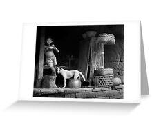 Bali Boy With Dog Greeting Card