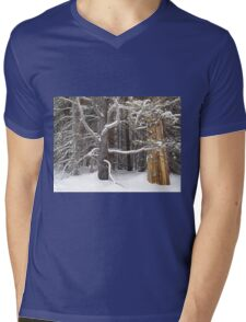 Tree Talk Mens V-Neck T-Shirt