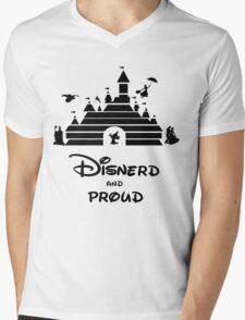 Disnerd and Proud Mens V-Neck T-Shirt