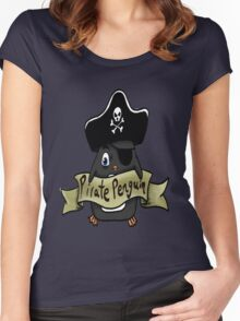 Pirate penguin Women's Fitted Scoop T-Shirt