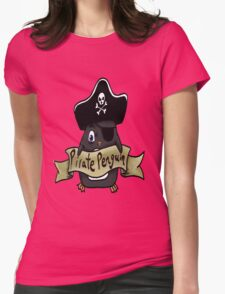 Pirate penguin Womens Fitted T-Shirt
