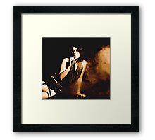 Hookah Woman Framed Print