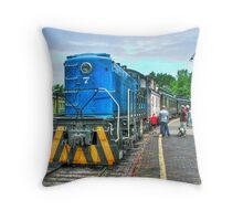 ALL ABOARD!!!! Throw Pillow