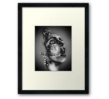 Woman in Smoke Framed Print