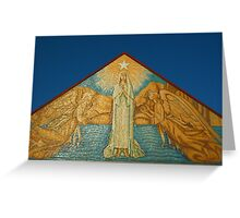 Mary Star of the Sea Church  artwork on front fascade  Greeting Card