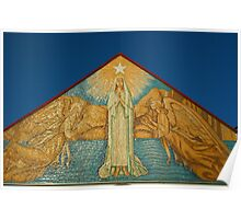 Mary Star of the Sea Church  artwork on front fascade  Poster