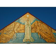 Mary Star of the Sea Church  artwork on front fascade  Photographic Print
