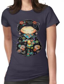 Little Multicolour Teapot Womens Fitted T-Shirt