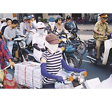motor scooter in Vietnam Photographic Print