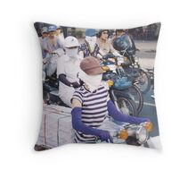 motor scooter in Vietnam Throw Pillow