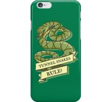 Tunnel Snakes Rule! iPhone Case/Skin