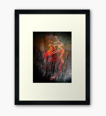 birdman sketch #4....... wall of ancient motion Framed Print