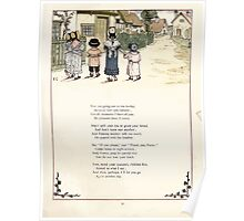 Under the Window Pictures and Rhymes for Children Edmund Evans and Kate Greenaway 1878 0035 Going to Tea Poster