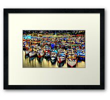 Fishermans Terminal ~ HDR Series ~ Seattle, WA Framed Print