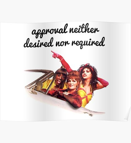Approval not required Poster