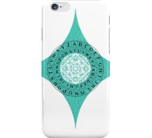 Caesar's Shift Cipher (Green) iPhone Case/Skin